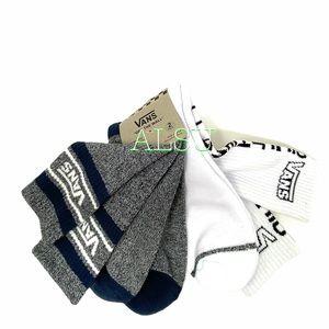 VANS Men Dress Blues 2 pack Socks White Grey,s9-13